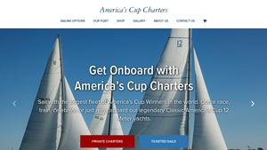 America's Cup Charters Website Image