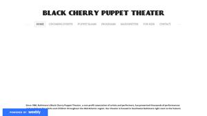 Black Cherry Puppet Theater Website Image
