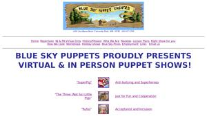 Blue Sky Puppet Theatre Website Image