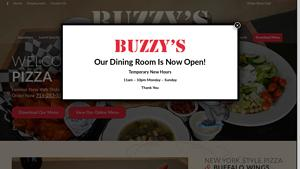 Buzzy's New York Style Pizza Website Image