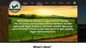 Farmers Legal Action Group Website Image