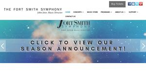 Fort Smith Symphony Assn Website Image