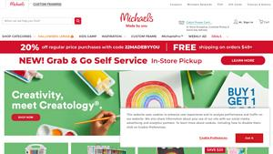 Michaels Arts & Crafts Store Website Image