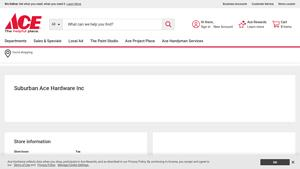 Suburban Ace Hardware Inc Website Image