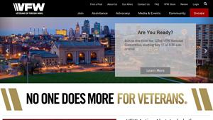 Veterans Of Foreign Wars Website Image
